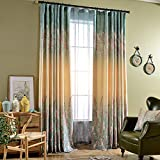 Blackout Lined Curtains Purple Blue Ombre Color Curtains - Anady 2 Panel Grommet Lavender Floral Sky Curtains 50 inch Wide