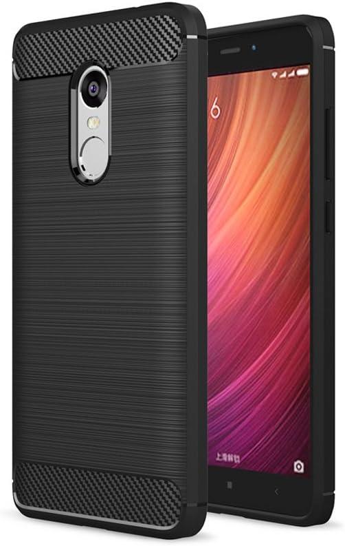 Litastore XiaoMi RedMi Note 4X Funda - Carbon Fiber Soft Silicone ...