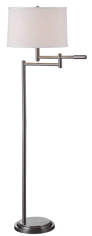 Kenroy Home 20941BS Theta Floor Lamp, Swing Arm, Brushed Steel Finish