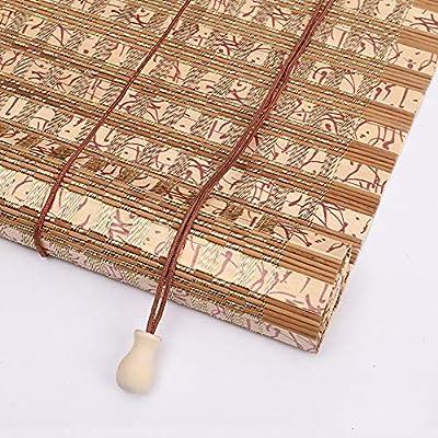 Estor enrollable YXX Persianas Exteriores de bambú for pergola Balcón Patio Patio Exterior, 80 cm / 100 cm / 120 cm / 140 cm / 160 cm de Ancho, fácil de Instalar (Size : 100cmx100cm): Amazon.es: Hogar