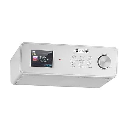 auna kr 200 si internet kitchen radio spotify support broadband speaker tft color display remote - Kitchen Radio