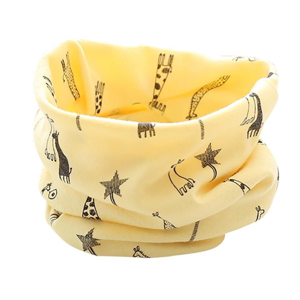 K-youth® Invierno Patrón de Jirafa Algodón Pañuelos Niños Niñas O Cuello Bufanda para Bebé