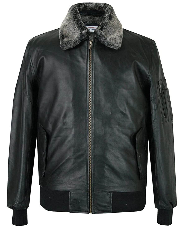 Black Leather Pilot Jacket