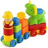 Blocks ShowTop 12 Pieces Building Blocks Children Builders with Storage Bag Elephant