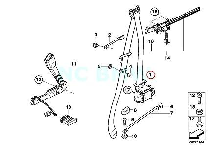 Amazon Com Bmw Genuine Rght Frnt Upper Belt With Force Limiter