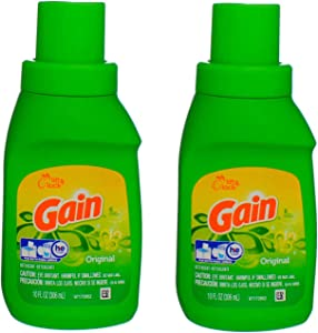 Gain, Original Laundry Detergent, Two 10 oz. Bottles