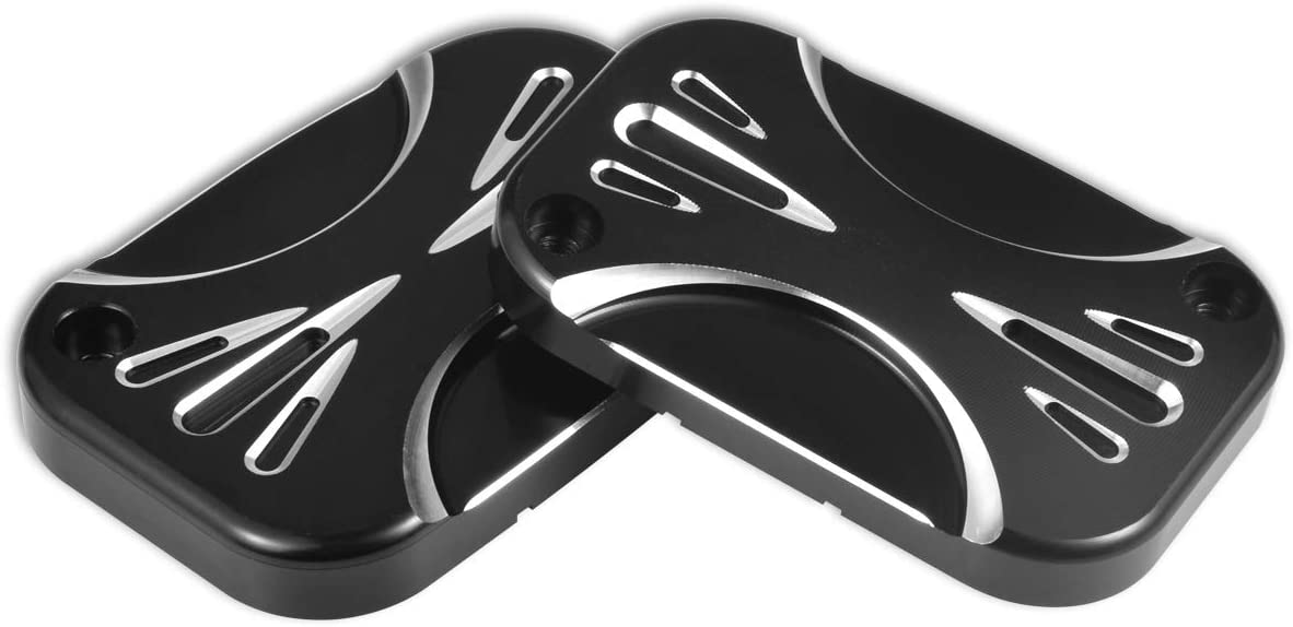 per Harley FLH FLHX FLHX Road King 2008-2017 Electra Glide Street CNC Copertura per Cilindro del Freno Sinistra e Destra NATGIC in Alluminio Cromato