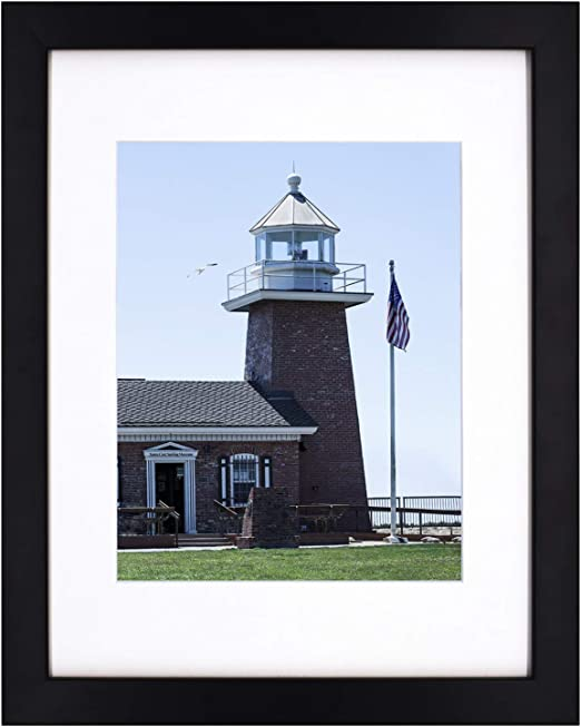Golden State Art 11x14 Photo Wood Frame with Mat for 8x10 Picture BLACK by Golden State Art