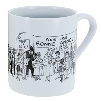 De Collection 197247976 Tintin Carte Moulinsart Voeux Porcelaine Mug En Tasse WDeIE2YH9