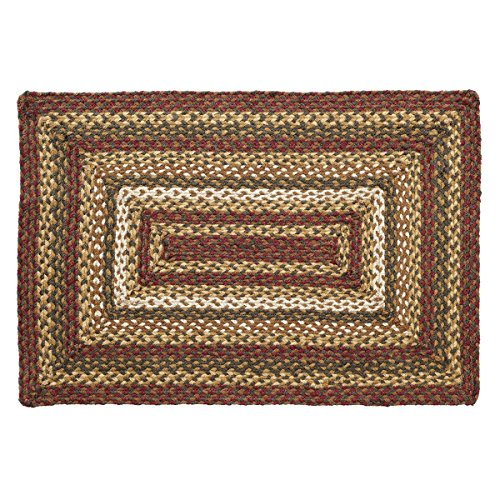 VHC Brands Rustic & Lodge Flooring – Tea Cabin Green Jute Rug, 2′ x 3′