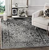 Safavieh Adirondack Collection ADR109B Grey and Black Oriental Vintage Distressed Area Rug (9' x 12')