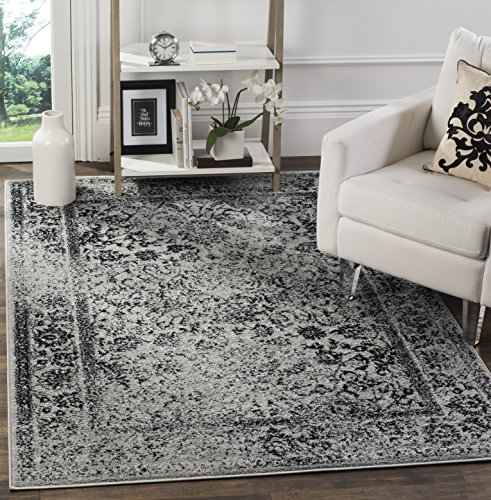 Black Transitional Rug - Safavieh Adirondack Collection ADR109B Grey and Black Oriental Vintage Distressed Area Rug (8' x 10')