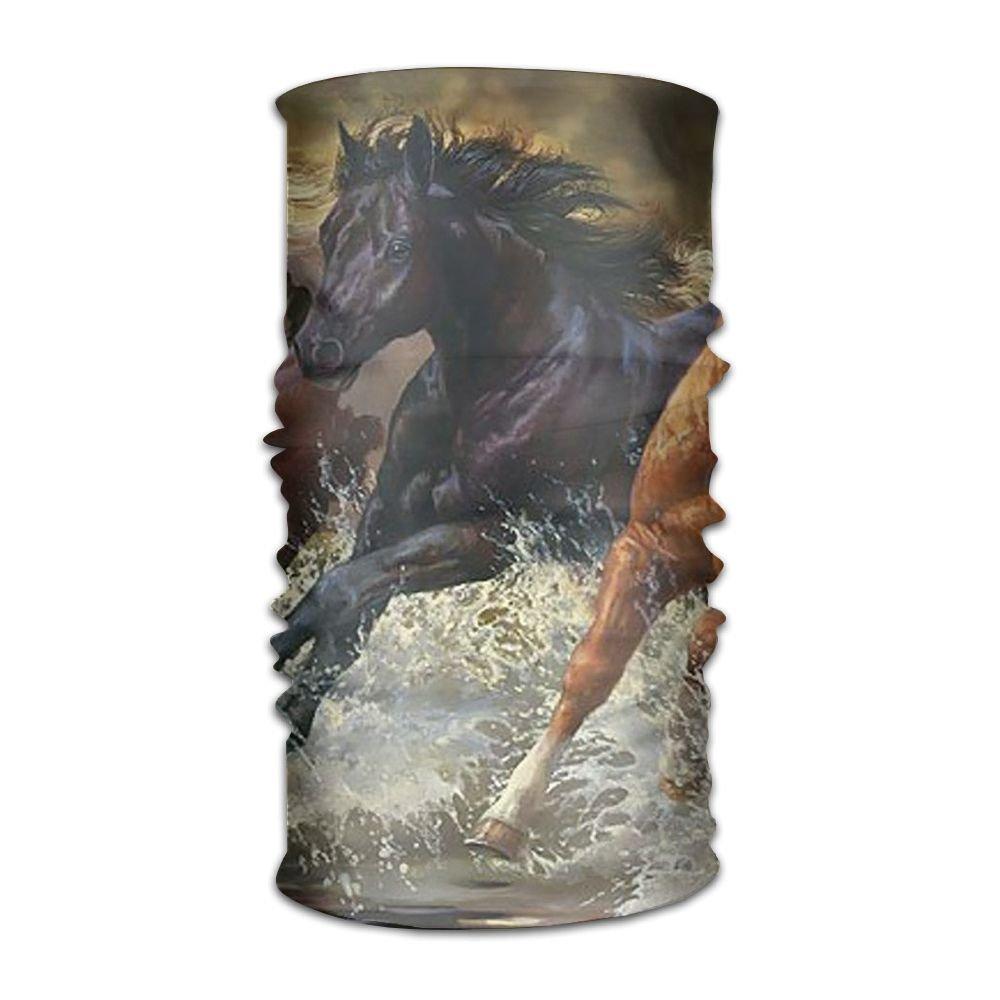 Headwear Headband Oil Painting Horse Head Scarf Wrap Sweatband Sport Headscarves For Men Women