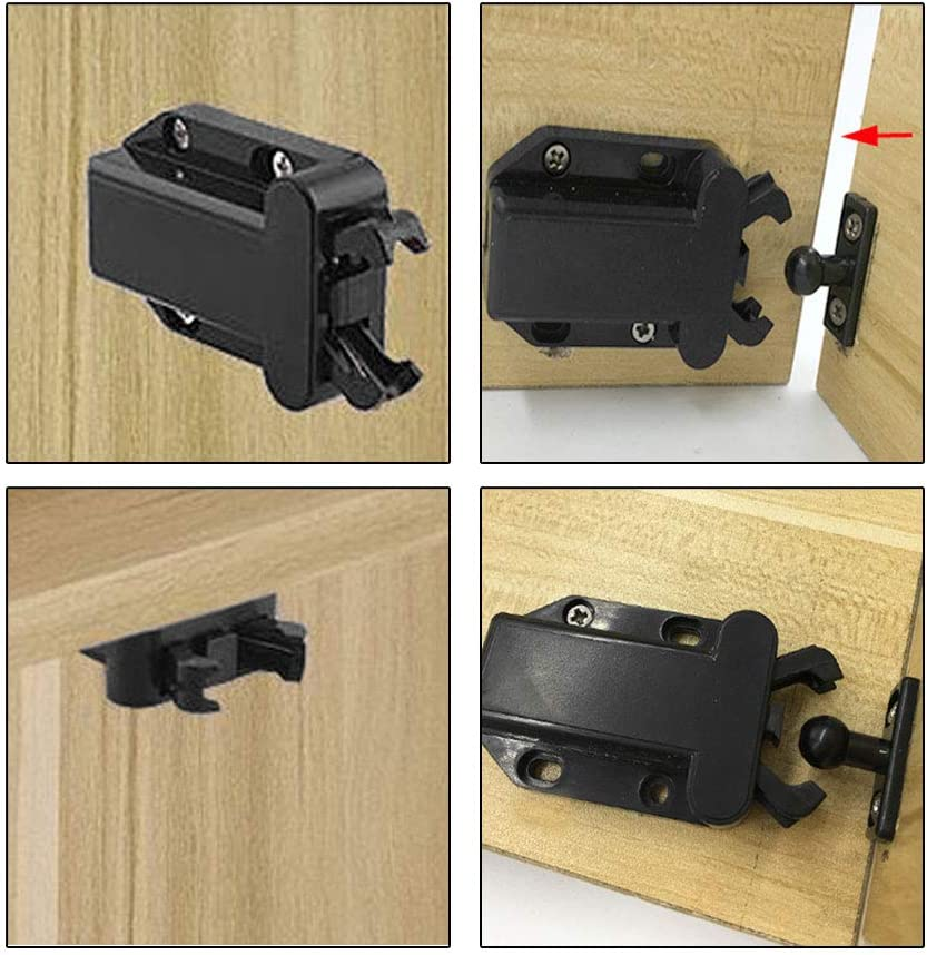 placard Sourcing Map Loquet de verrouillage tactile pour chambre /à coucher tiroir