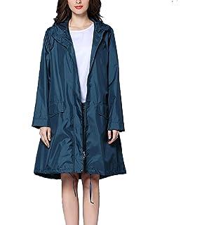 Qianliniuinc Mode Pluie Manteau Respirant Dames Long Imperméables Femmes  Imperméable À l eau Capot Lumière a05e4937986