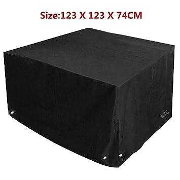 Funda Impermeable para Muebles de Jardín, Cubierta protectora de Mesas, Sillas, Sofás (123X123X74CM)