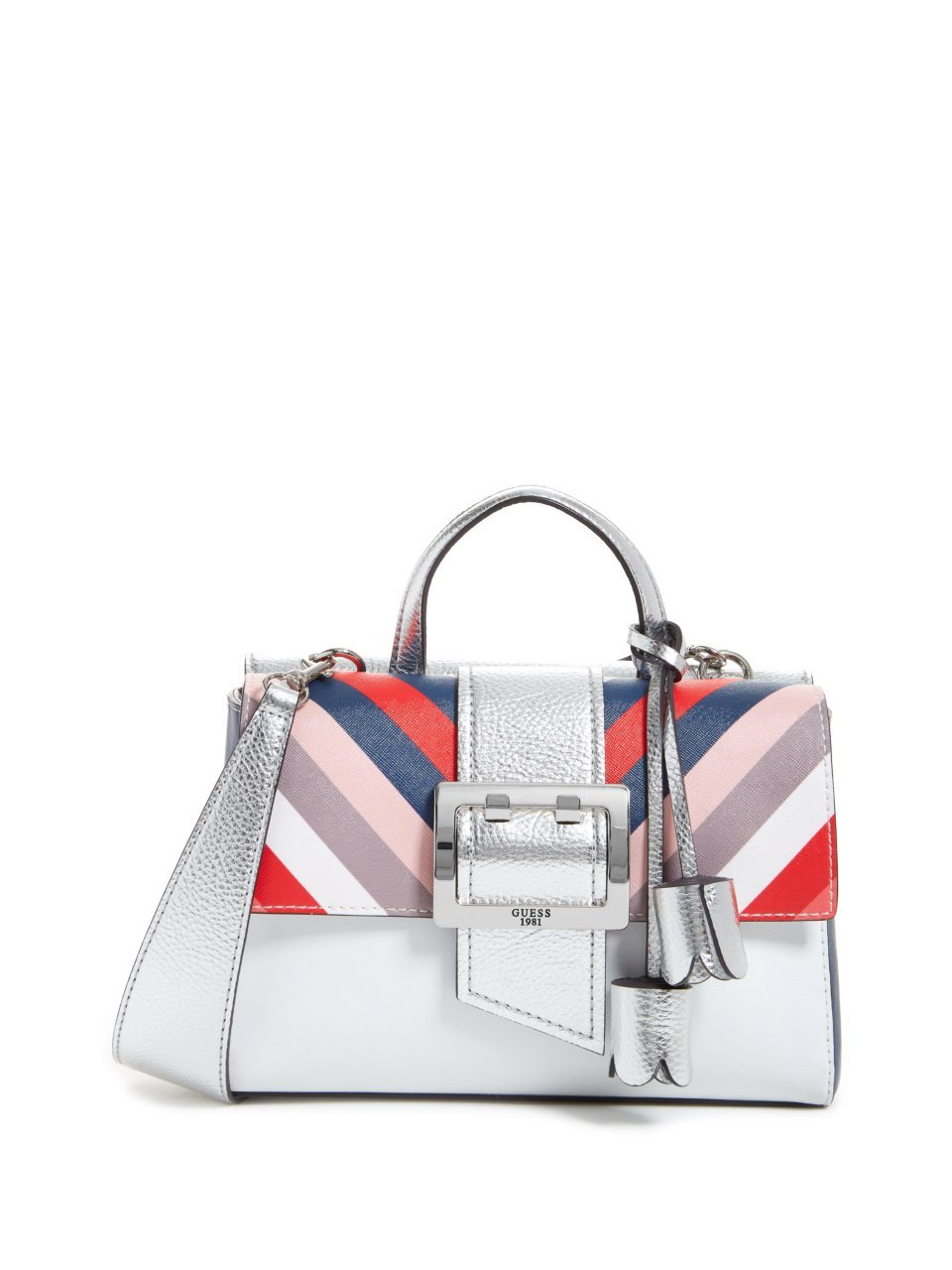 GUESS Tori Metallic Shoulder Bag
