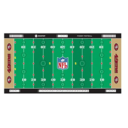 Amazon Com Nfl San Francisco 49ers Finger Football Game Mat