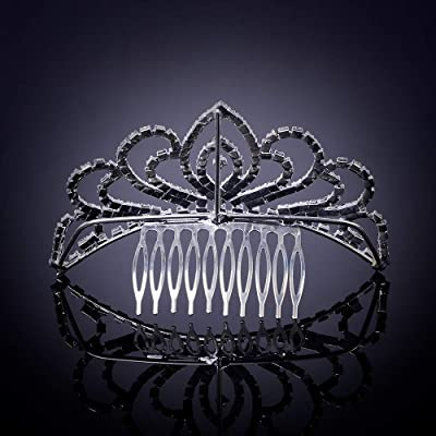 Elegant Mini Tiara Princess Crystal Crown Hair Comb Wedding Headpiece