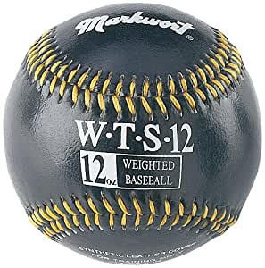 Markwort Synthetic Cover Weighted Baseball, Black, 12 oz
