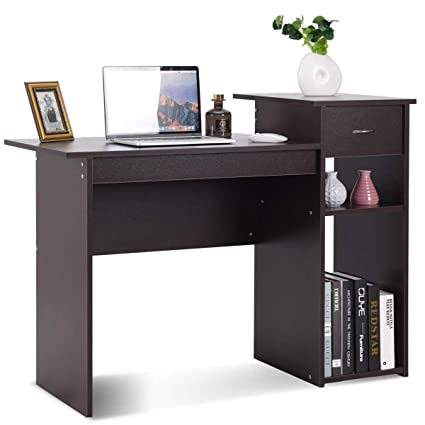 wooden home office. TANGKULA Computer Desk Wooden PC Laptop Home Office Modern Simple Style Wood  Study Workstation Writing Table Wooden Home Office O
