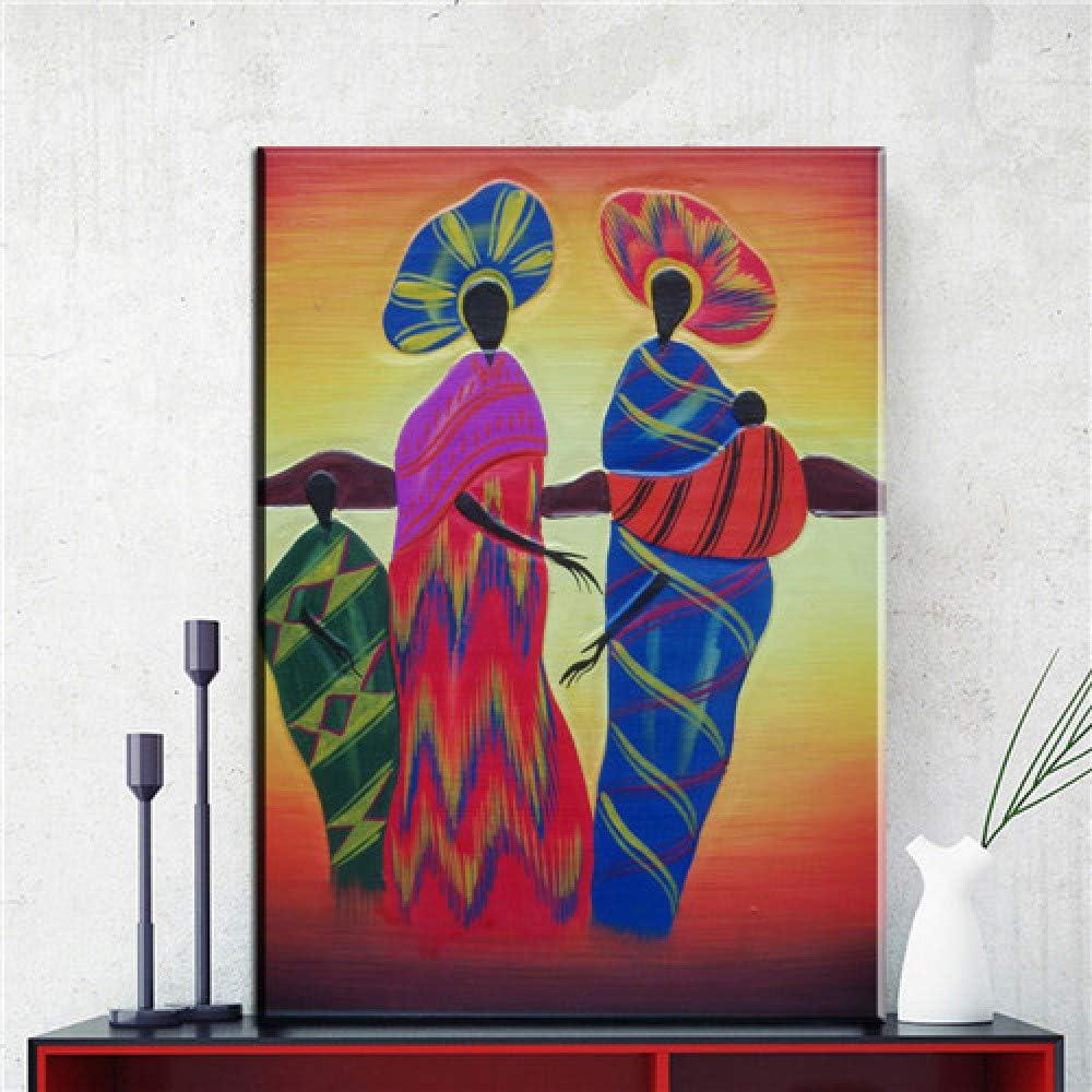 NIMCG Decoración de la Pared del hogar Lienzo Pintura Chica Cuadro Abstracto Lienzo Pintura al óleo Pintura del Arte Sala de Estar decoración del Dormitorio (sin Marco) A1 60x90 CM: Amazon.es: Hogar