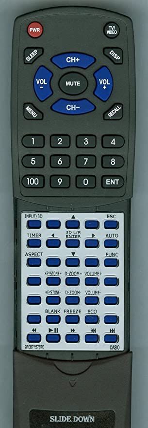 Replacement Remote Control for Casio XJ-A252  XJ-A257