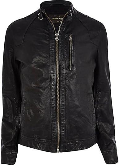 Noora Mens 100/% Pure Leather Jacket Slim Fit Custom Made Leather Jacket