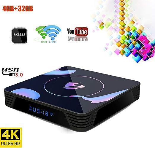 WXJHA TV Box Android 9.0 Smart TV ayudas de Caja 4G de RAM 32G ROM H.