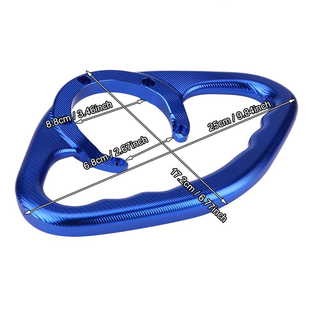 Poign/ée du guidon du r/éservoir /à poign/ée de passager pour motocyclette Akozon en aluminium CNC pour FZ6 R1 R6 MT-07 rouge