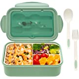 Bento Box For Adults Kids - 1100ML All-in-One Premium Japanese Bento Lunch Box Container With Utensil, Eco-Friendly, Micro-Wa