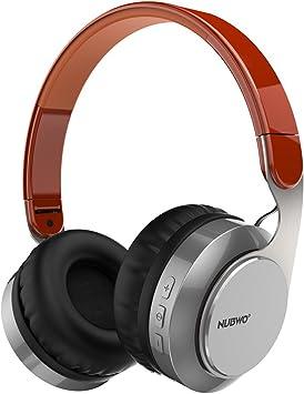 Auriculares Bluetooth, Nubwo S8 Plegable en Ear estéreo inalámbrico/con Cable Auriculares con micrófono para iPhone, iPad, iPod, Samsung Smartphone y más: Amazon.es: Electrónica