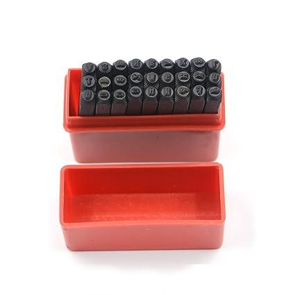 Sellos de acero Metal juego de letras del alfabeto y números de herramienta del arte en
