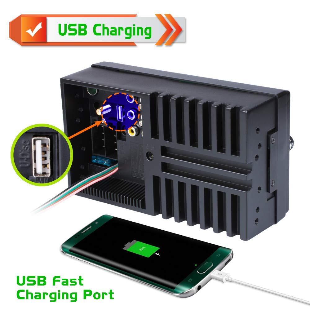 TF Port Aux In SWC Fernbedienung TekHome 2019 NEU 1 DIN Autoradio mit 4.1 Bildschirm und R/ückfahrkamera Auto Radio mit A2DP Bluetooth und USB Schnelle Aufladung AM//FM//RDS 7 Lichtfarben.