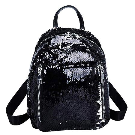 Amazon.com: Shoulder Bag,Longay Women Sequin Hit Color School Bag Backpack Student Satchel Travel Shoulder Bag (Gold): Arts, Crafts & Sewing