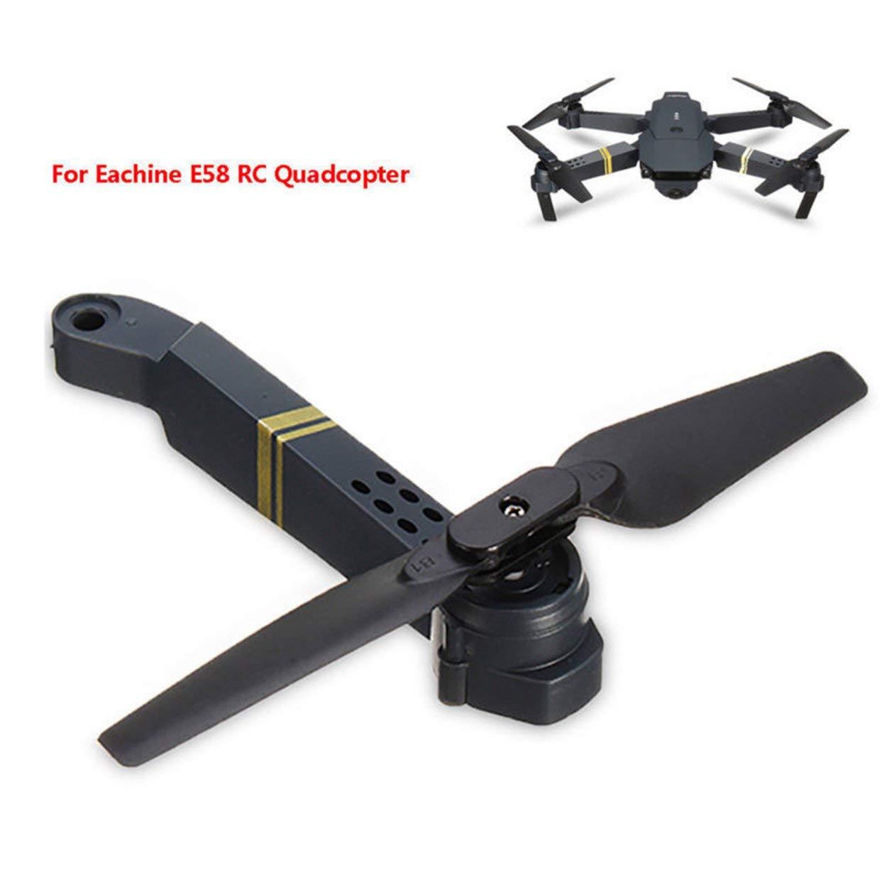 Lorenlli Profesional F/ácil de Instalar E58 WiFi FPV RC Quadcopter Eje Brazo Repuestos con Motor y h/élice Suministros