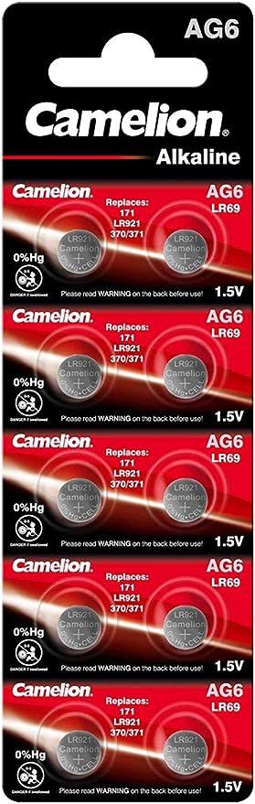 Camelion Ag6 Lr69 Lr921 371 Alkaline Button Cell Bürobedarf Schreibwaren