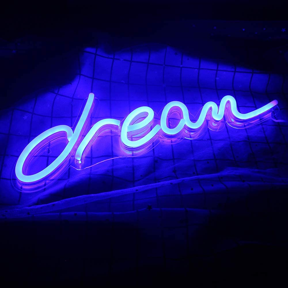 Dream Neon Signs Dream Shape Neon Night Lights For Room Decor Light Lamp Bedroom Bar Pub Christmas Coffee Shop Wall Art Decoration Sign 17 9 6 2 Amazon Com