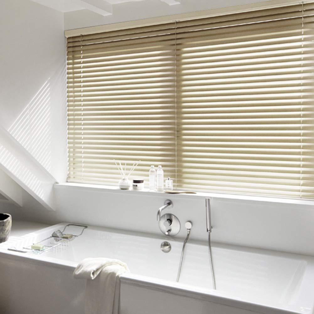 DS- cortinas Persianas de aleación de Aluminio y magnesio persianas enrollables Ventana del baño 3 Colores de Varios tamaños&&(Color : B, ...