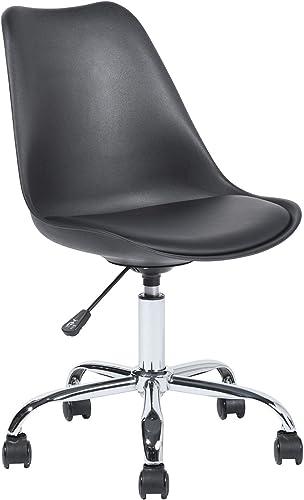 Office Chair Mid Back Ergonomic Desk Chair PP Plastic