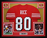 Jerry Rice Autographed Red 49ers Jersey