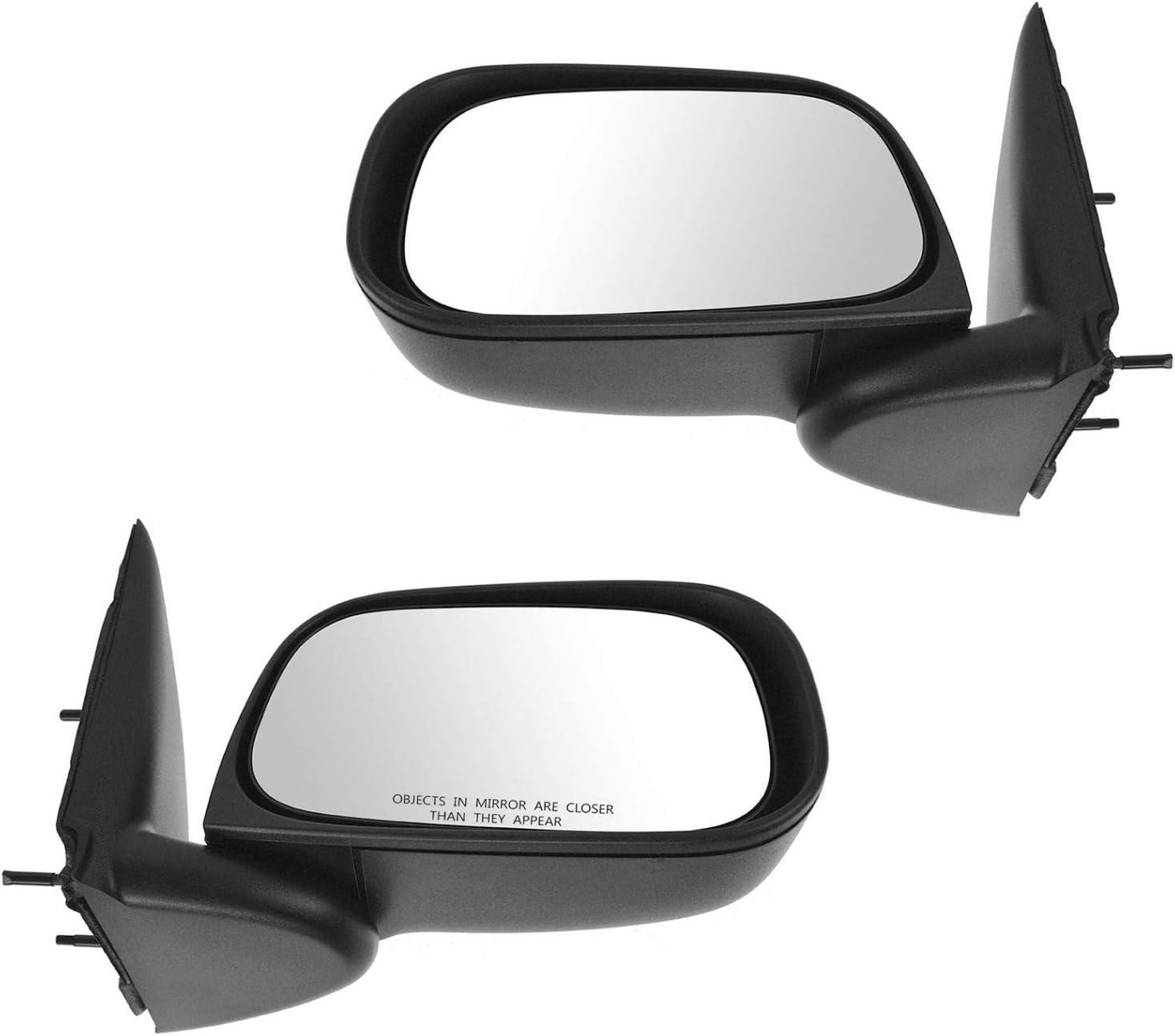 Mirror Manual Textured Black Folding RH Right Passenger Side for Dakota Raider
