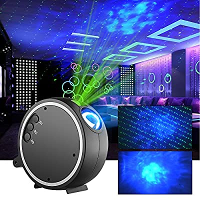 Projector Light ,Kingtoys LED Projection Romantic Night lamp , Blue Star Light Suitable for Birthday Parties, Family Party, KTV, Dance Halls, Clubs, Bars, Karaoke , Kids Party, Dance Floor