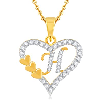 H Letter Images.Kanak Jewels Golden Brass Valentine Collection Letter H In Heart Shaped For Men And Women