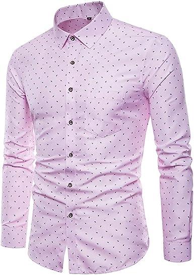 Sayla Camiseta para Hombre Verano Polo Camisas Casual Fitness Tirantes Deporte Slim Solid Dot Printed Oficina De Negocios De Manga Larga CóModa Camisa: Amazon.es: Ropa y accesorios