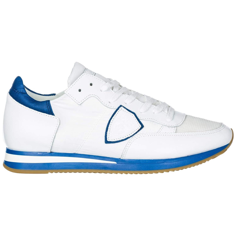 Neon white blueette PHILIPPE MODEL Men Tropez Sneakers neon white blueette