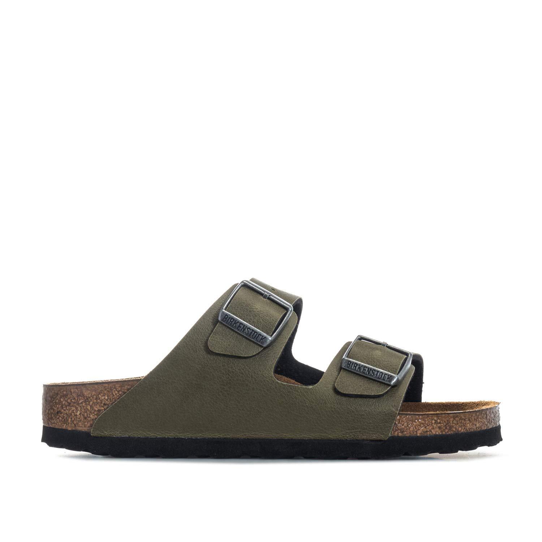 46158799227b Birkenstock Junior Girls Arizona Pull Up Sandals in Olive- Buckle  Fastening-  Amazon.co.uk  Shoes   Bags