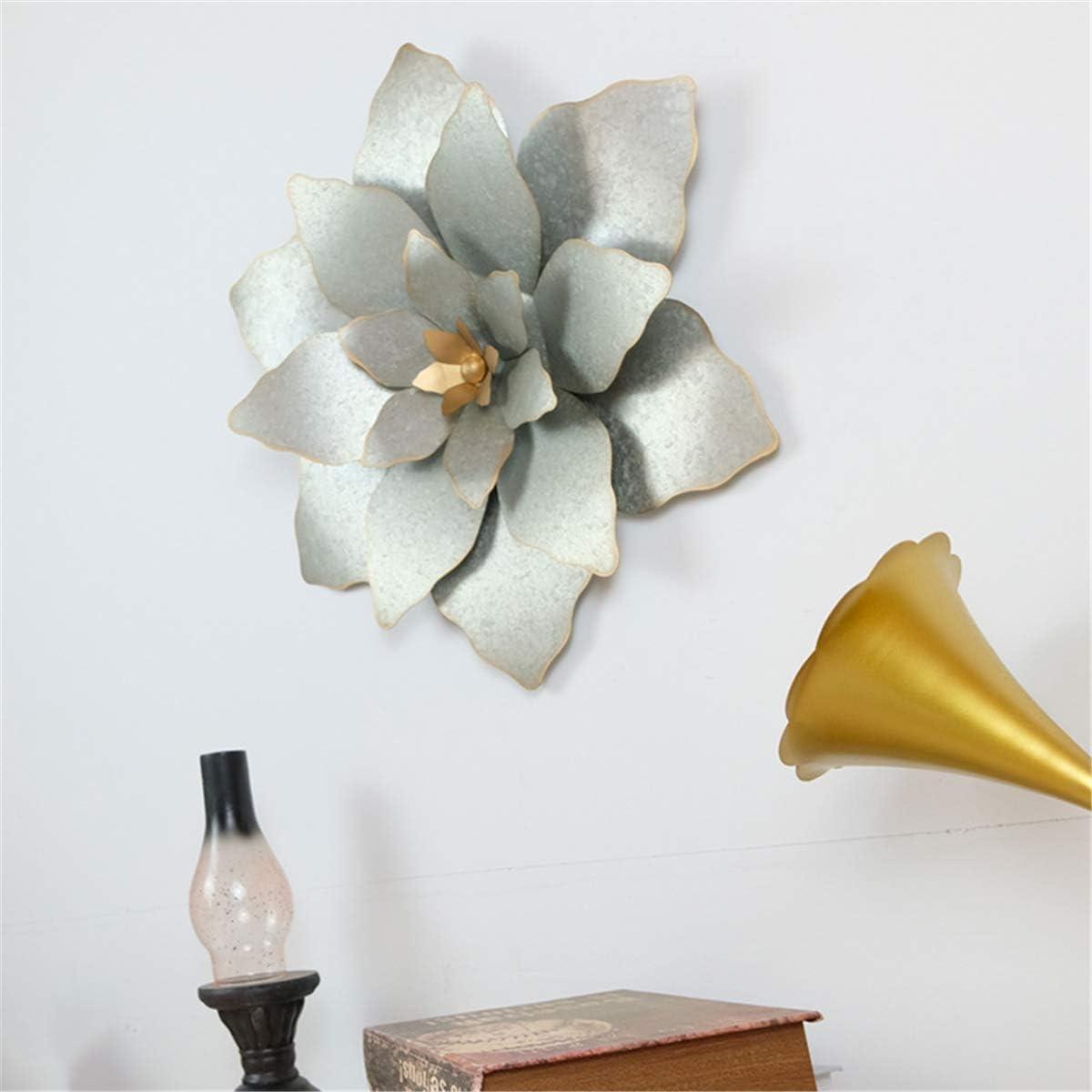 3D flower wall decorations Awesome Art Work Metal Wall Sculpture Art Wall Hanging D/écor,29cm Contemporary Metal Wall Art Decor Sculpture