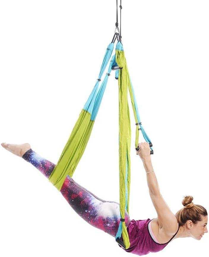 Ranbo Yoga Inversion Swing - Anti-Gravity Aerial Trapeze - Flying Hammock Sling - Relieves Back Pains, Improves Your Strength, Balance, Flexibility ...
