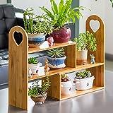 Indoor flower rack wooden multi-storey shelf balcony shelf-A